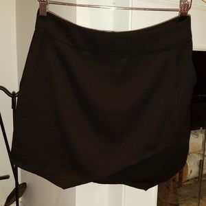 Sanctuary Black Faux Wrap Mini Skirt w Pockets